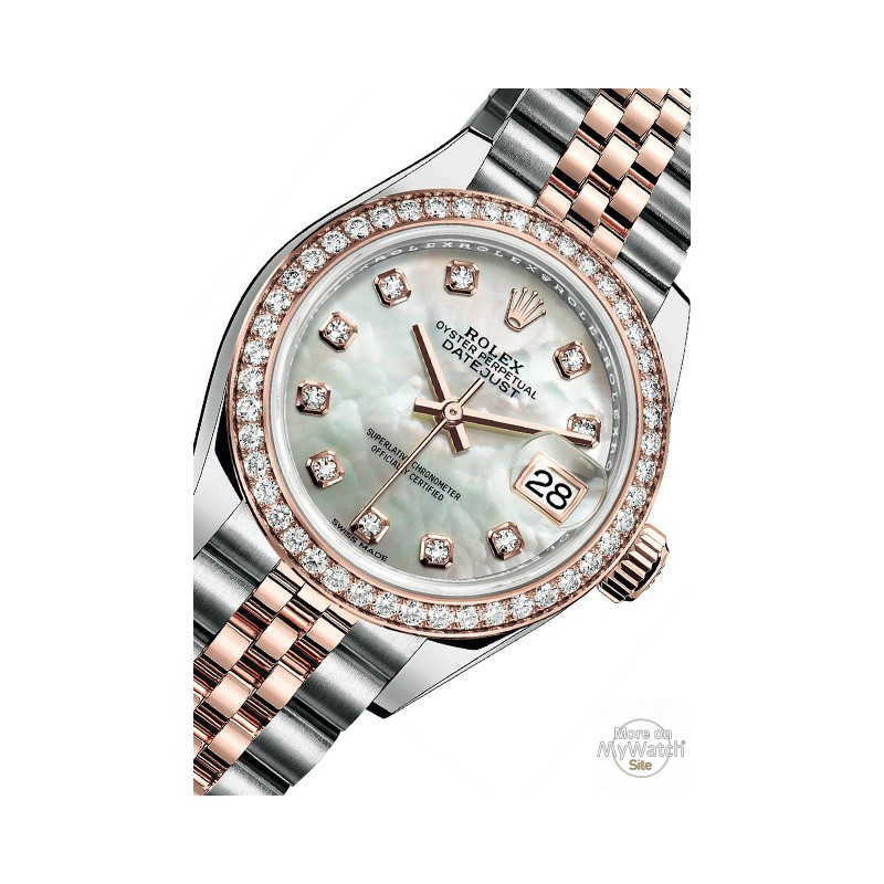 watch rolex lady datejust 28 oyster perpetual 279381 rbr 63341 everose rolesor diamonds. Black Bedroom Furniture Sets. Home Design Ideas