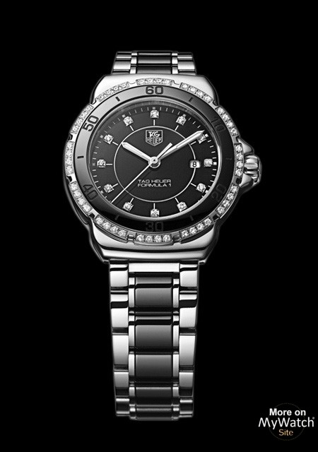 54cbd7fc16f Watch TAG Heuer FORMULA 1 Lady Steel   Ceramic Diamond ...
