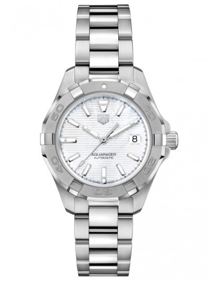 Aquaracer Lady Automatique White Dial And Baton Indices