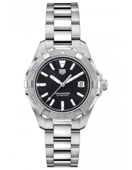 Aquaracer Lady Automatique Black Dial And Baton Indices