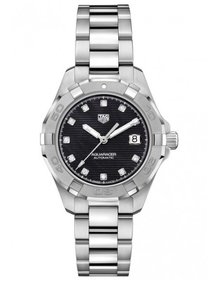 Aquaracer Lady Automatique Black Dial And diamond Indices