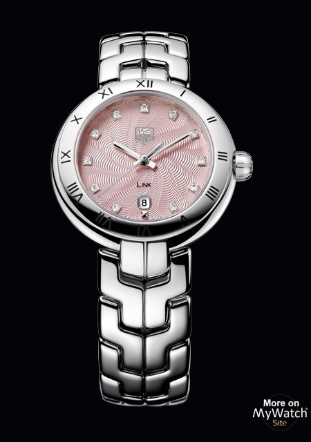 LINK Lady  - Steel - Diamonds - Pink Dial - TAG Heuer