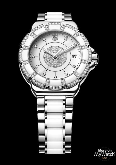 Watch Tag Heuer Formula 1 Lady Steel Ceramic Pavee Formula 1 Wah121d Ba0861 Steel White Ceramic Diamonds