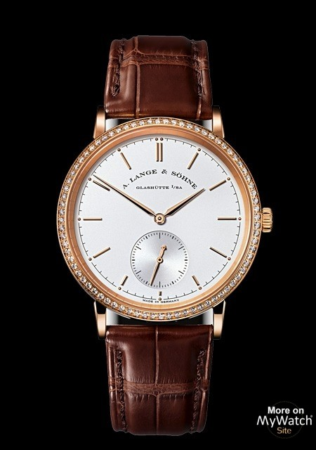 Saxonia Automatic - Pink Gold - Crocodile Strap - A. Lange & Söhne
