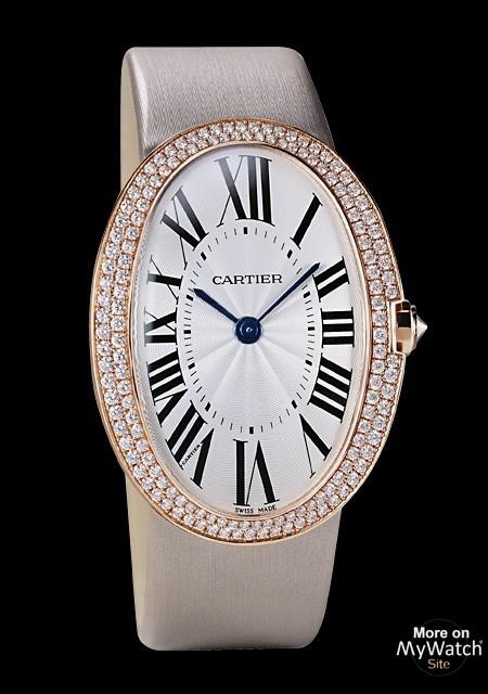 watch cartier montre baignoire grand mod le baignoire wb520005 pink gold diamonds canvas. Black Bedroom Furniture Sets. Home Design Ideas