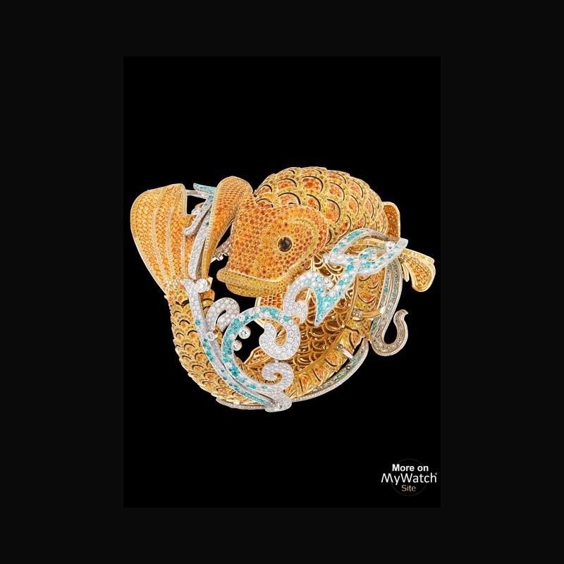 Watch van cleef arpels bracelet montre carpe ko for Carpes kois