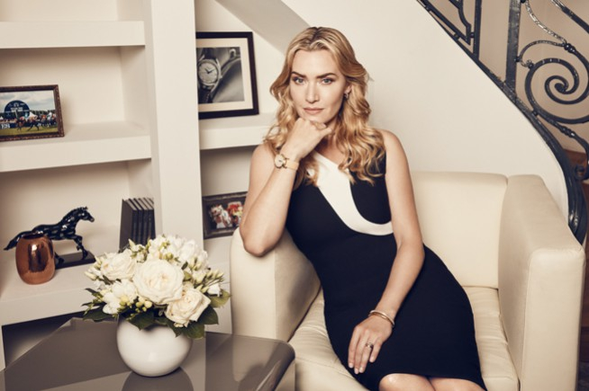Kate Winslet : an exclusive Longines watch to support the Golden Hat Foundation
