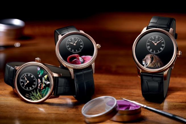 An invitation to travel to exotic destinations from Jaquet Droz